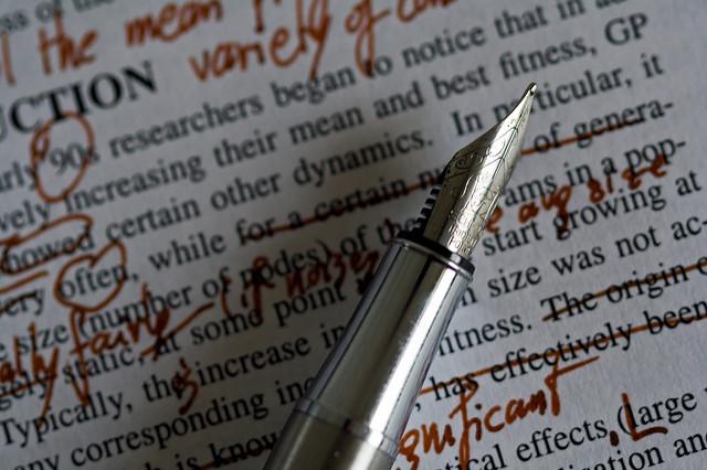 écriture, phrases